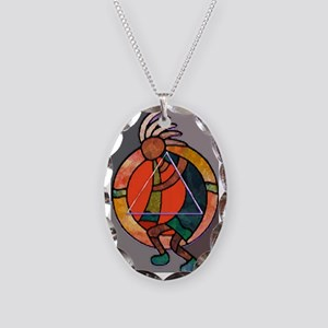 Kokopeli JOY Necklace Oval Charm