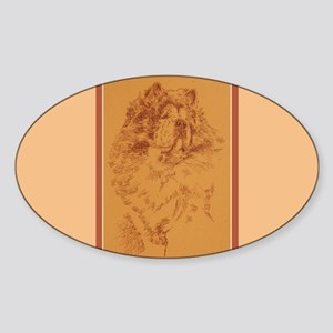Chow Chow Sticker (Oval)