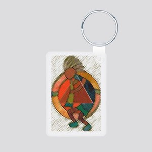Kokopelli healing Aluminum Photo Keychain