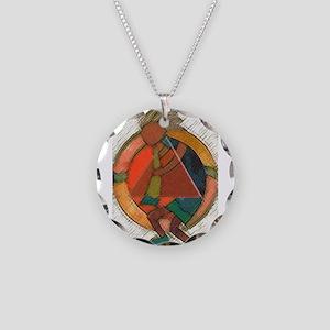 Kokopelli healing Necklace Circle Charm