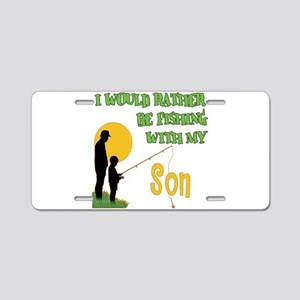 Fishing With Son Aluminum License Plate