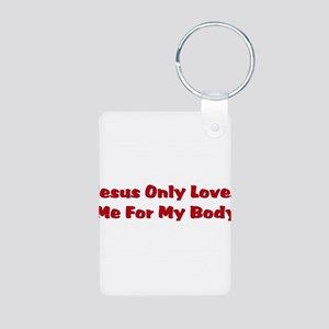 Anti-Religion Jesus Shirt Aluminum Photo Keychain