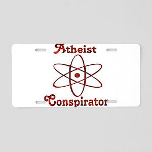 Atheist Conspirator Aluminum License Plate