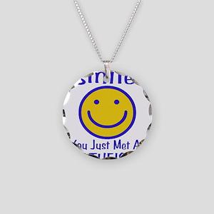 Atheist Smiley Necklace Circle Charm