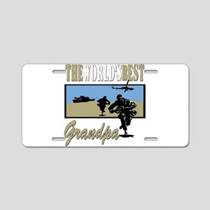 Military Grandpa Aluminum License Plate