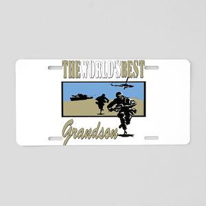 Military Grandson Aluminum License Plate