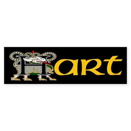 Hart Celtic Dragon Bumper Sticker