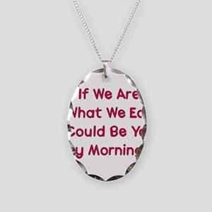 Eat You Necklace Oval Charm