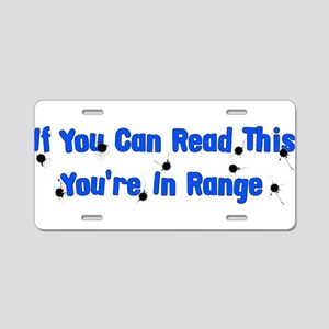 In Range Aluminum License Plate