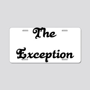 The Exception Aluminum License Plate