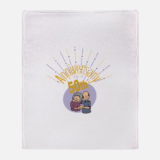 50th Wedding Anniversary Throw Blanket