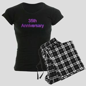 35th Wedding Anniversary Women's Dark Pajamas