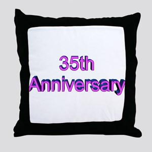 35th Wedding Anniversary Throw Pillow