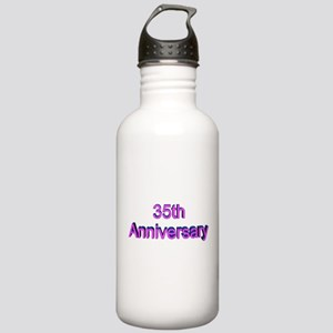 35th Wedding Anniversary Stainless Water Bottle 1.