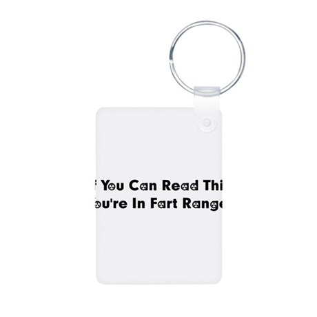 Fart Range Aluminum Photo Keychain