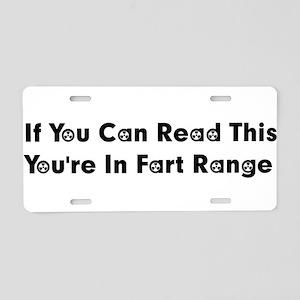 Fart Range Aluminum License Plate