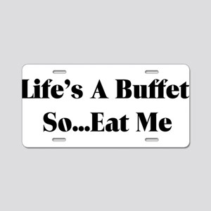 Eat Me Aluminum License Plate