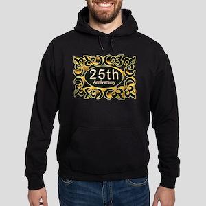 25th Wedding Anniversary Hoodie (dark)