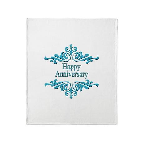 Wedding Anniversary Throw Blanket