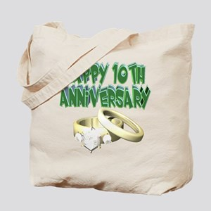 10th Wedding Anniversary Tote Bag