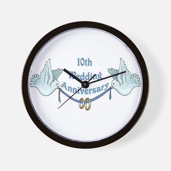 10th Wedding Anniversary Wall Clock