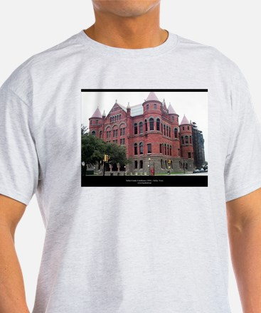 Dallas County Courthouse Ash Grey T-Shirt
