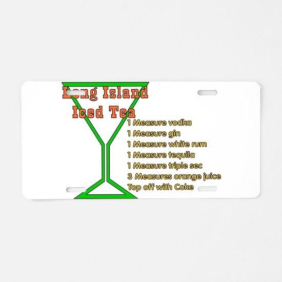 Long Island Iced Tea Aluminum License Plate