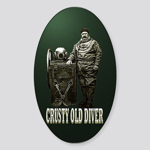 Crusty Old Diver Pumped Sticker (Oval)