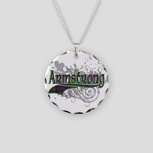 Armstrong Tartan Grunge Necklace Circle Charm