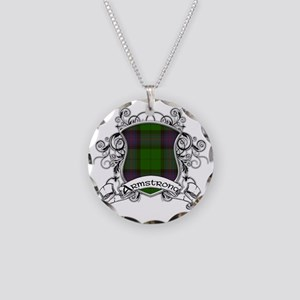 Armstrong Tartan Shield Necklace Circle Charm