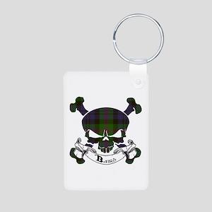Baird Tartan Skull Aluminum Photo Keychain