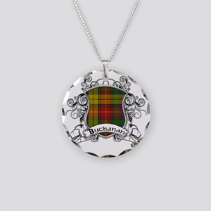 Buchanan Tartan Shield Necklace Circle Charm