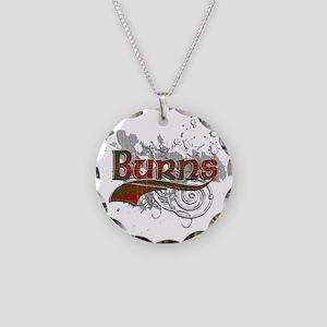 Burns Tartan Grunge Necklace Circle Charm