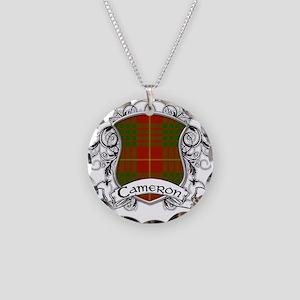 Cameron Tartan Shield Necklace Circle Charm