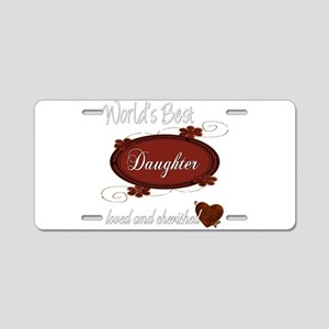 Cherished Daughter Aluminum License Plate