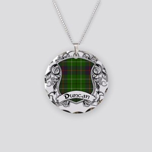 Duncan Tartan Shield Necklace Circle Charm