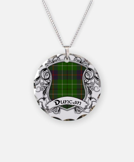 Duncan Tartan Shield Necklace