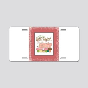 Sweetest Godmother Aluminum License Plate