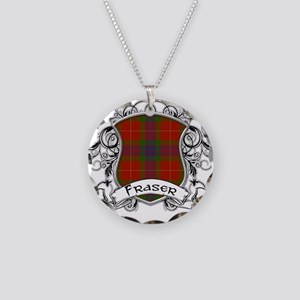 Fraser Tartan Shield Necklace Circle Charm