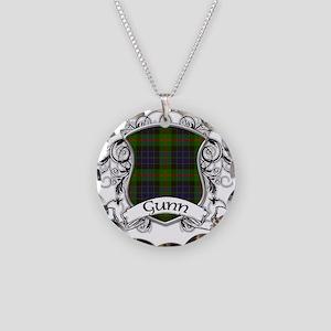 Gunn Tartan Shield Necklace Circle Charm