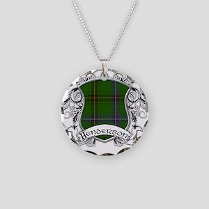 Henderson Tartan Shield Necklace Circle Charm