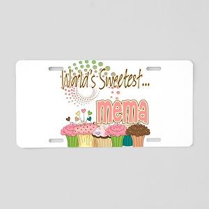 World's Sweetest Mema Aluminum License Plate