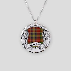 Hunter Tartan Shield Necklace Circle Charm