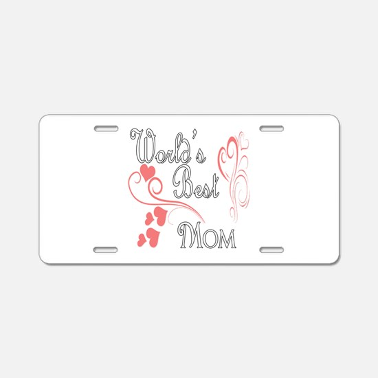 Best Mom (Pink Hearts) Aluminum License Plate
