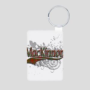 MacKinnon Tartan Grunge Aluminum Photo Keychain