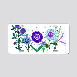 Growing Peace Aluminum License Plate
