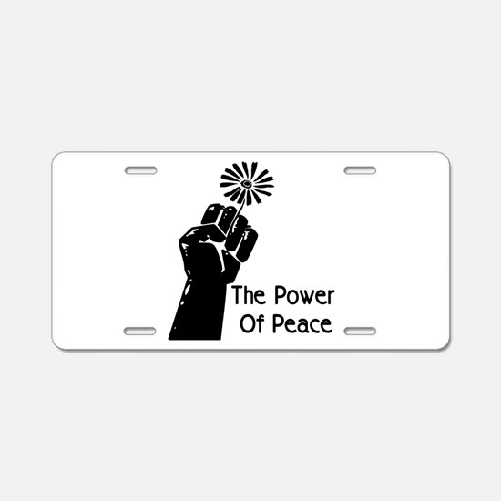 Power Of Peace Aluminum License Plate