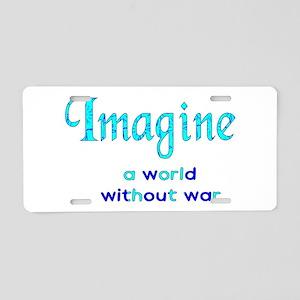 Imagine Peace Aluminum License Plate