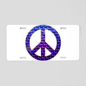 Peace Skulls Aluminum License Plate