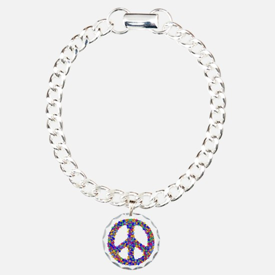 Starry Peace Sign Bracelet